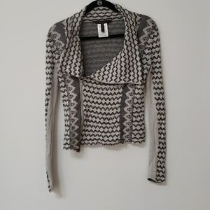 BCBG black and white graphic sweater